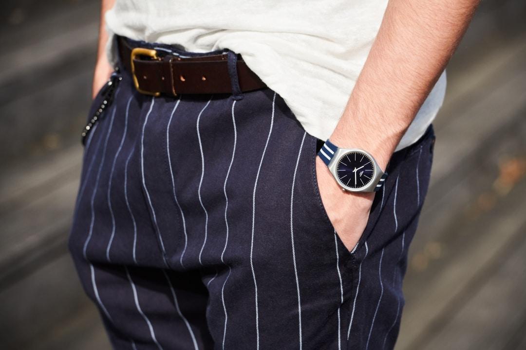 swatch skin irony watch blue