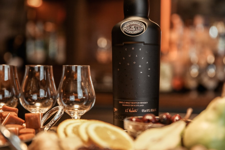 glenlivet code scotch whiskey bottle front view