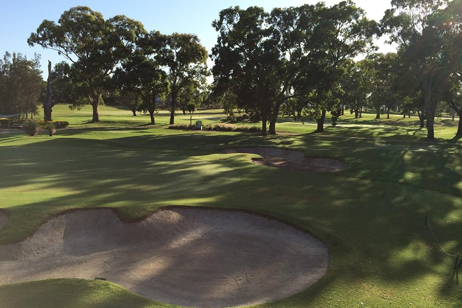 georges river golf course with 15 covered bays