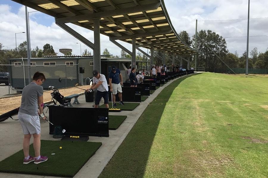 tempe golf driving range near sydney airport