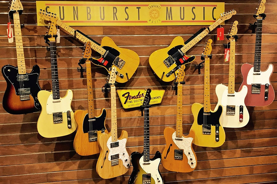 sunburst music guitars