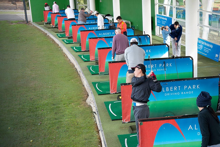 albert park driving range encourage public and visitor