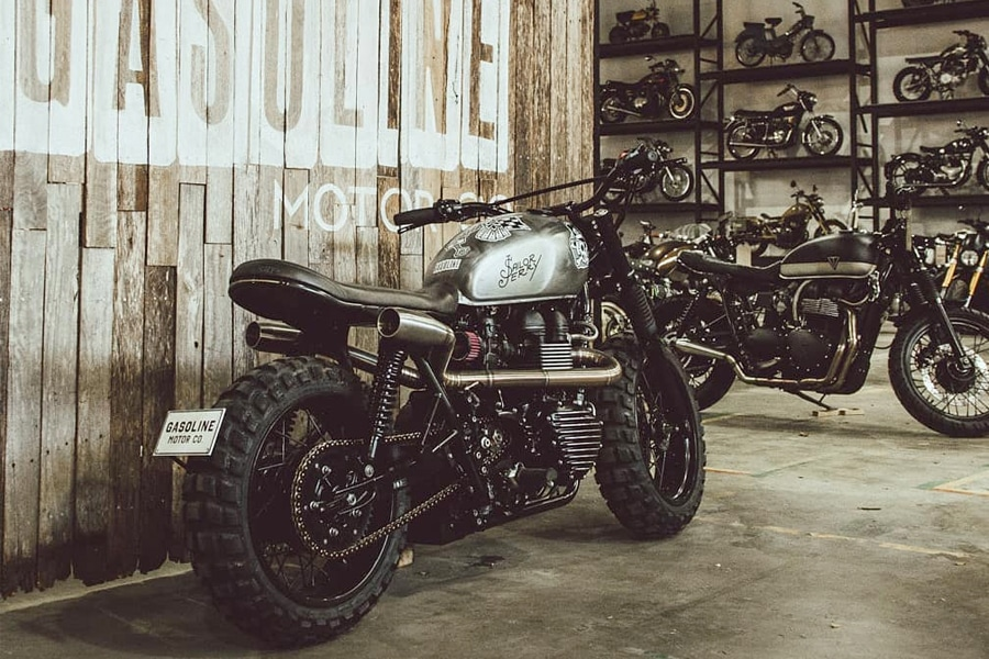 cafe racer at Sydney Gasoline Motor Co