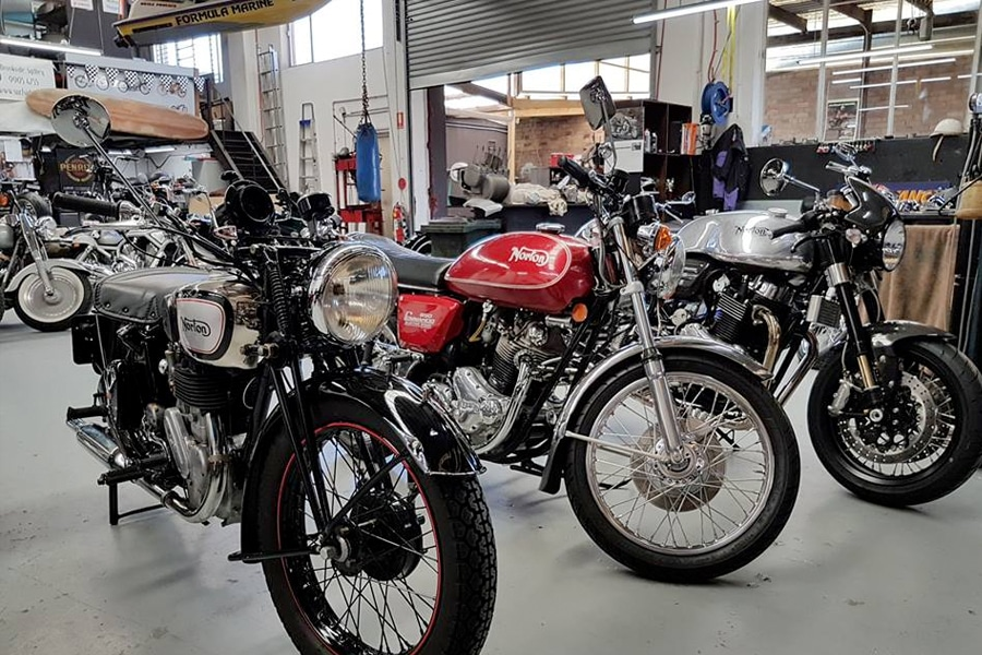surfside motorcycle garage in sydney