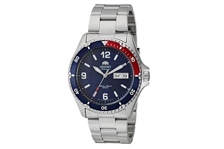 orient mako ii japanese stainless steel casual watch