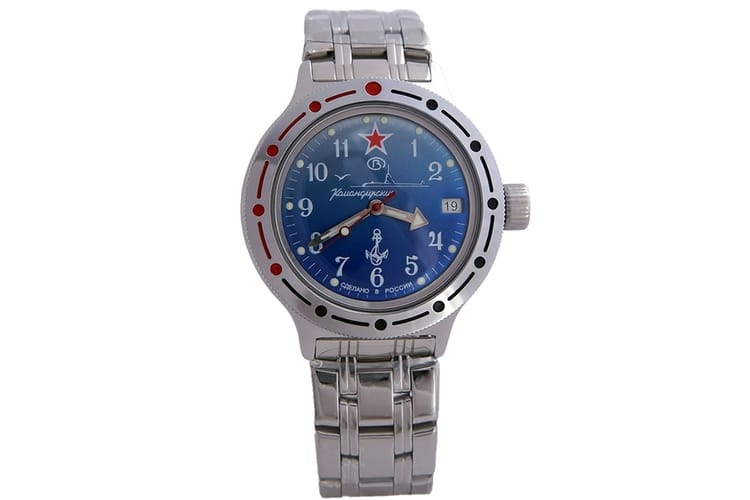 vostok amphibian military russian diver watch