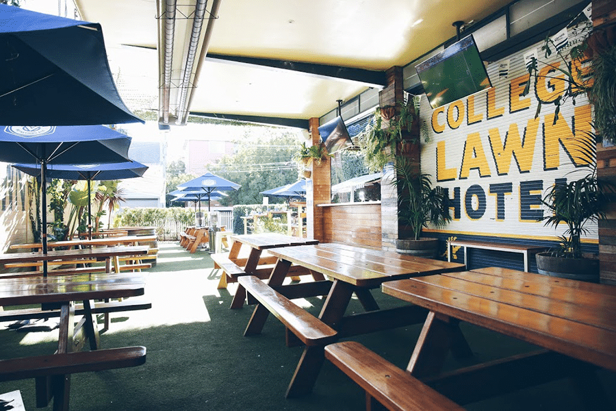 Famous Beer Garden at the College Lawn Hotel