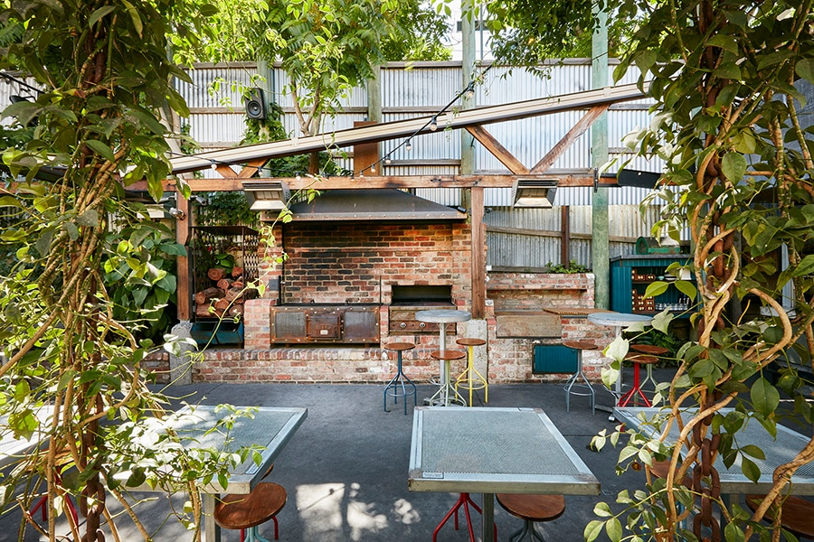 The Beer Garden at Dr Morse in Melbourne