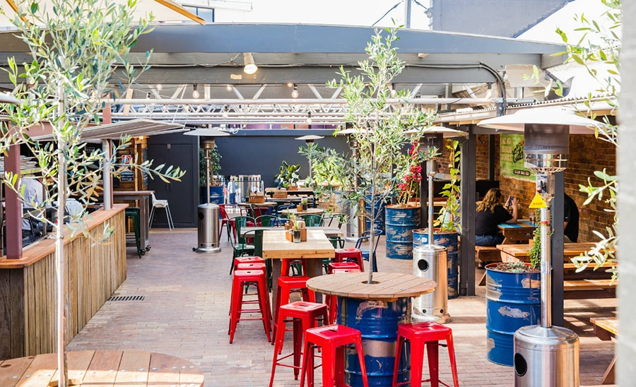 beer garden at the public house in petersham