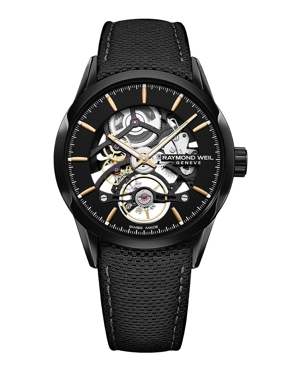 raymond weil gemeve rubber belt watch front