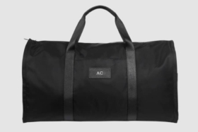 tde black nylon suit bag front