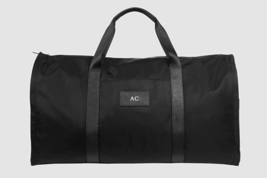 tde black nylon suit bag front