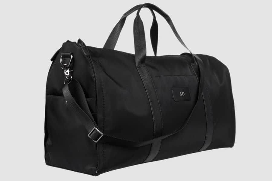 tde black nylon suit bag shoulder strap