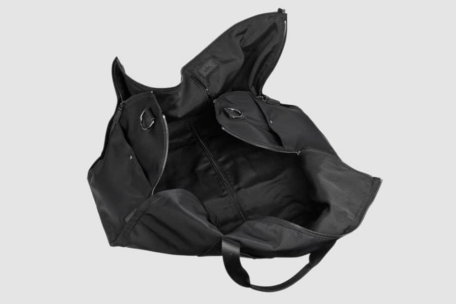 tde black nylon suit bag interior