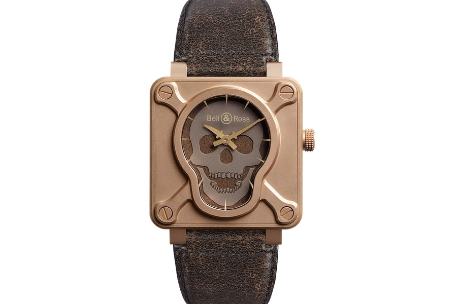 bell and ross br 01 skull bronze