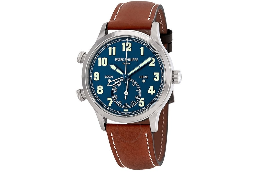 patek phillippe 5524g calatrava pilot travel time