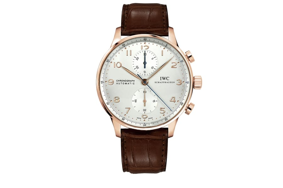iwc portuguese rose gold chronograph
