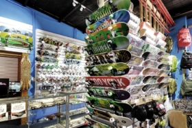 basement skate shop sydney interior