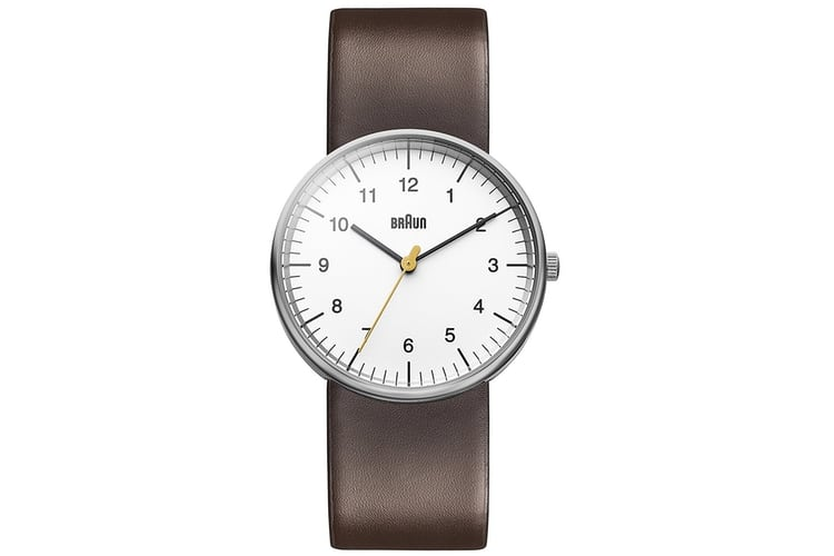 braun men's classic analog display watch