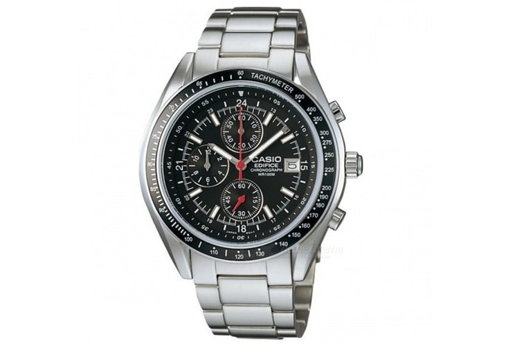 casio men edifice stainless steel watch
