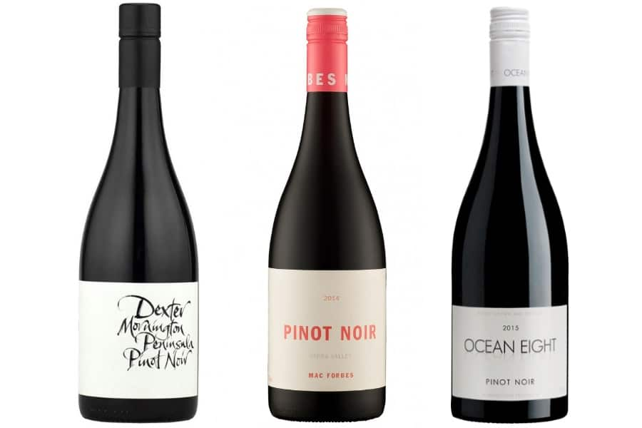 Three Top Aussie Pinot Noir red wines