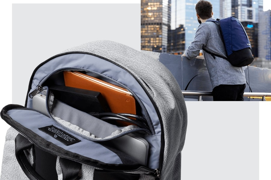 bellroy classic backpack plus interior