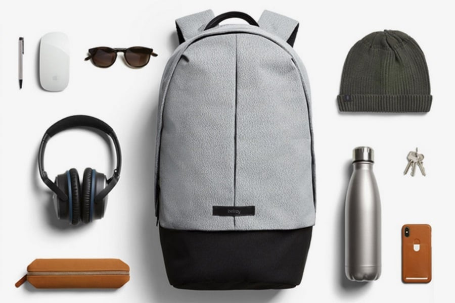 bellroy classic backpack plus grey