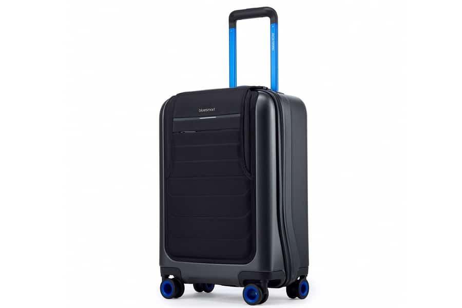 bluesmart one blue handle suitcase