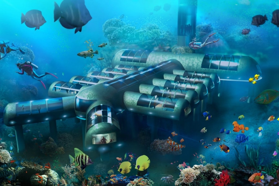 planet ocean underwater hotel in florida
