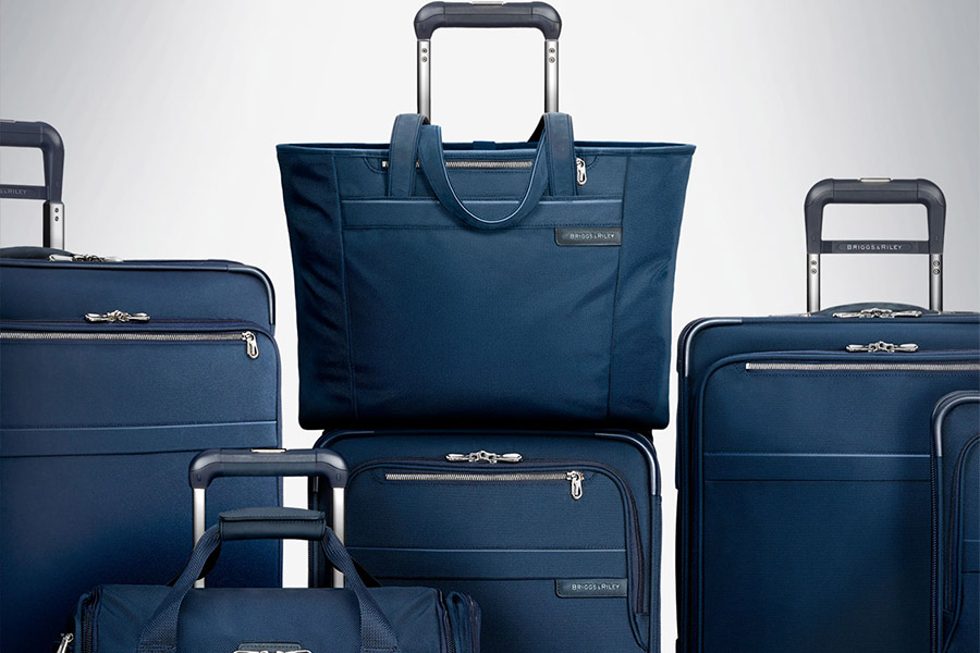 Briggs & Riley blue travel luggage set