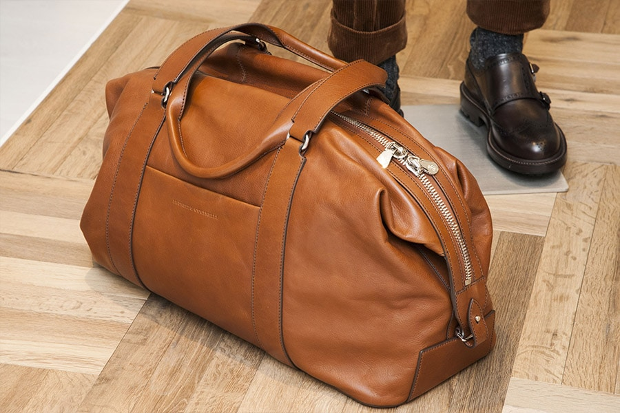 Brunello Cucinelli brown leather bag