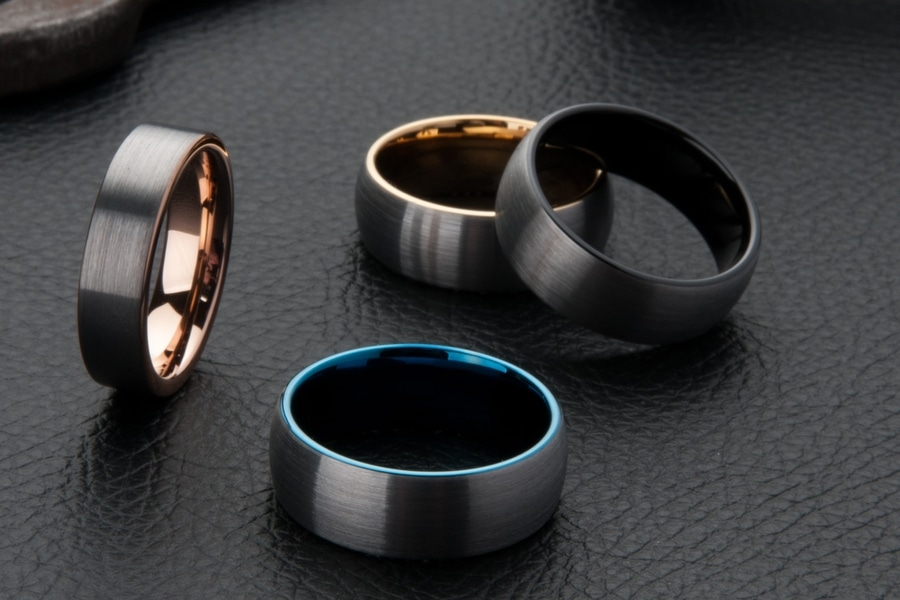 men's wedding kavalri rings metal color