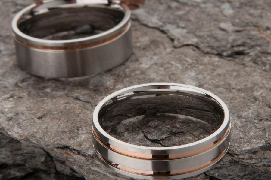 men's wedding kavalri rings inside view