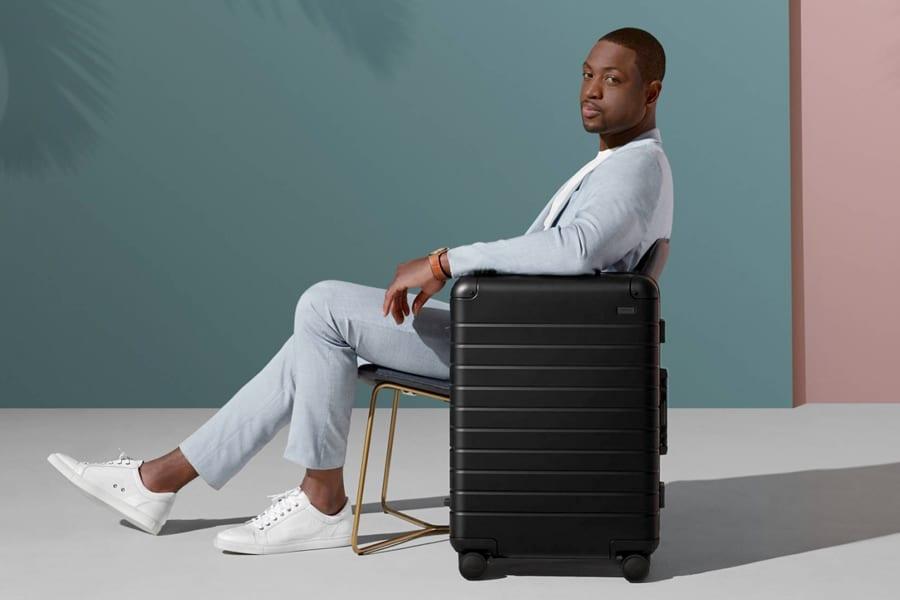 dwayne wade x away aluminum luggage