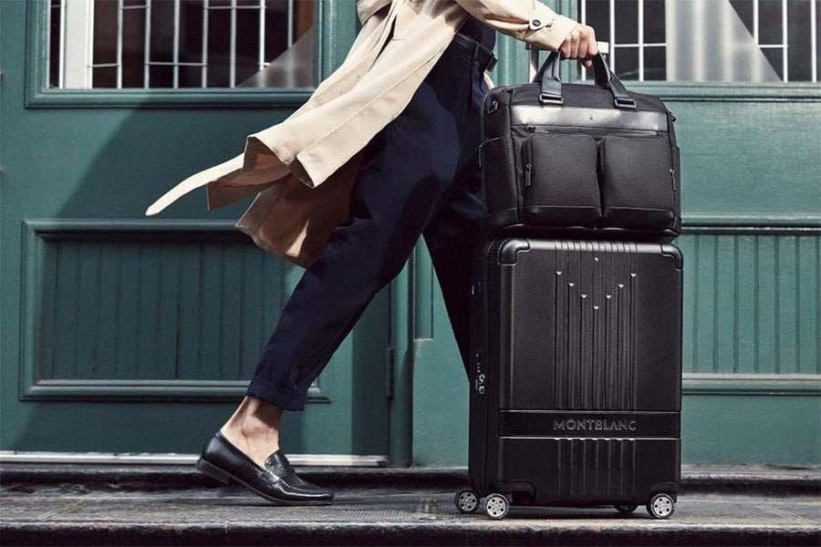 Montblanc Trolley line black luggage