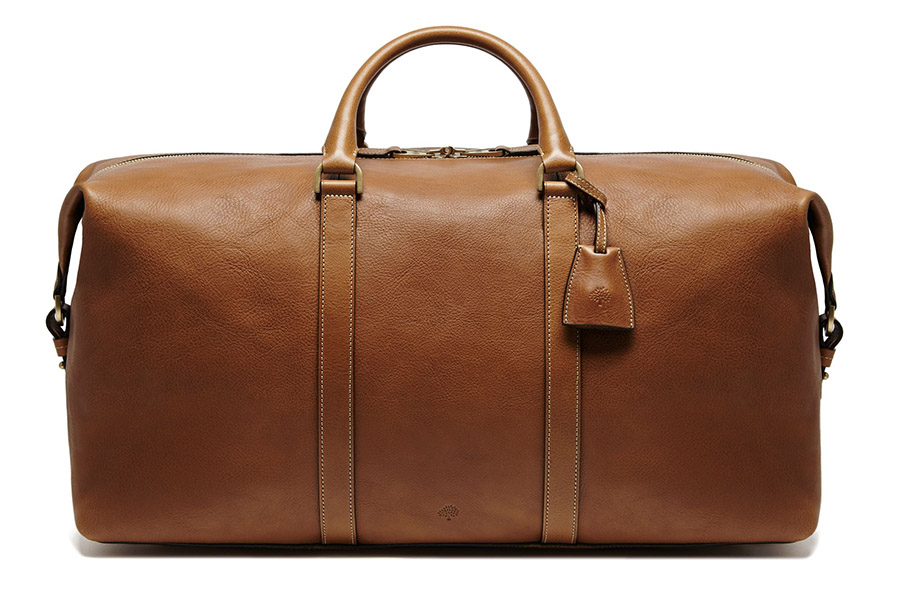 Mulberry brown leather travel bag