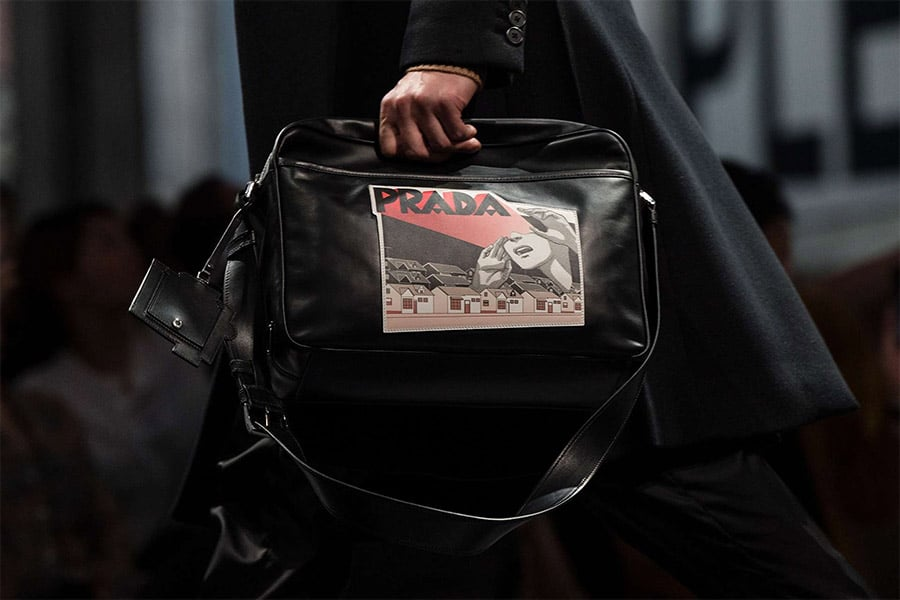 Prada Black Carry-on Shoulder Bag