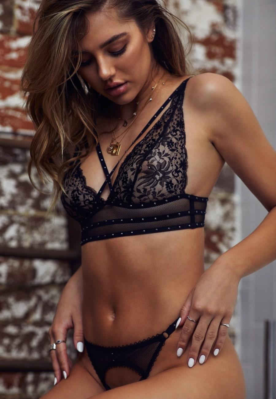 delilah belle black lingerie