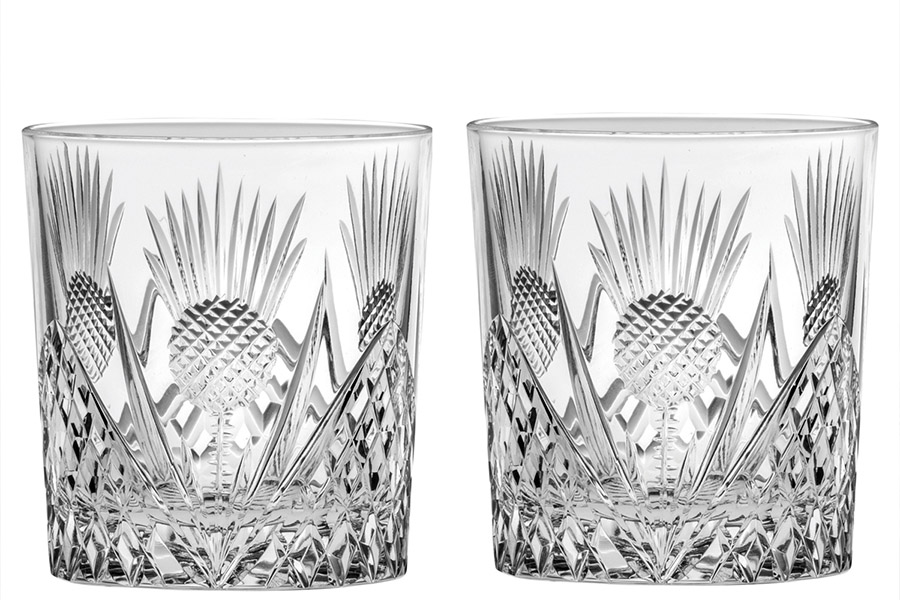 royal scot crystal scottish thistle set