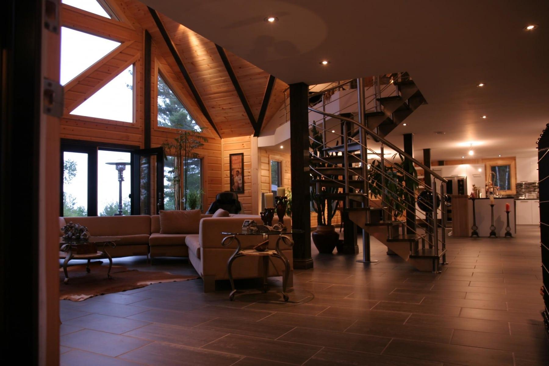 wooden natural interior design
