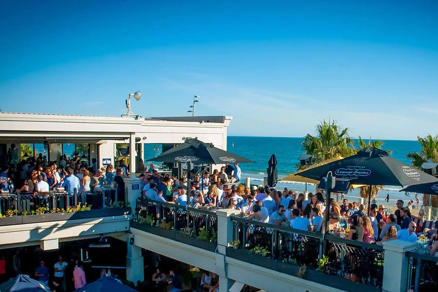 captain baxter rooftop terrace overlooking beach