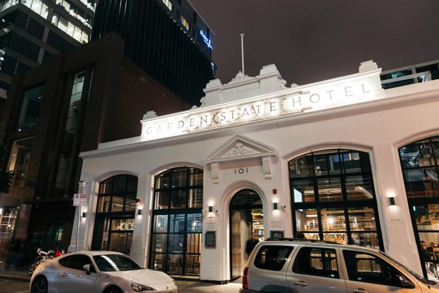 garden estate hotel white exterior