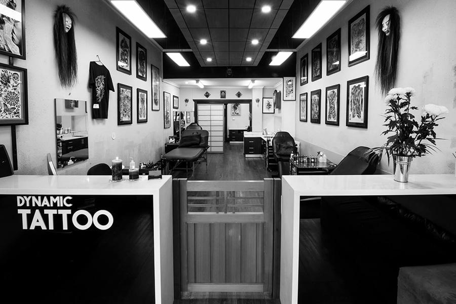 black and white interior tattoo dynamic Tattoo