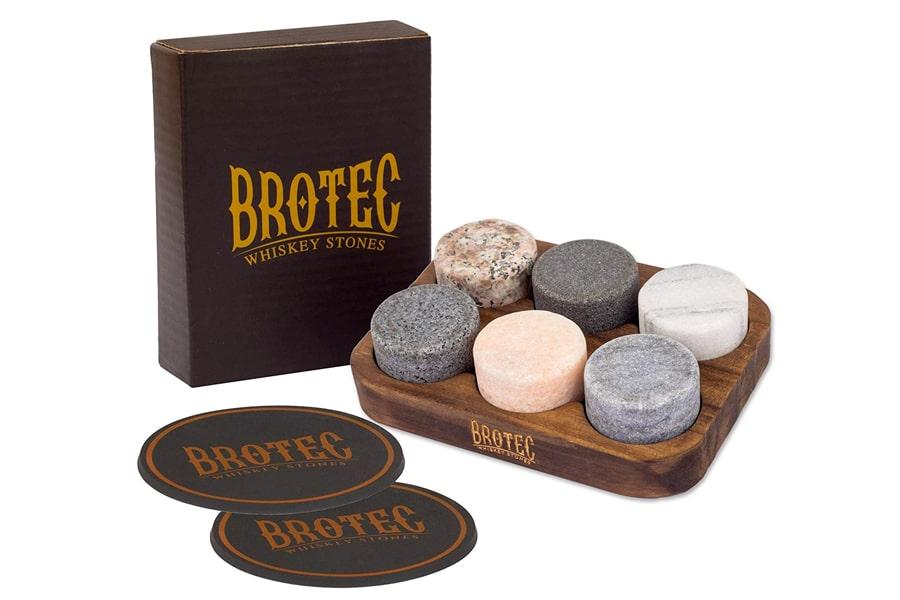 best brotec round granite whiskey stones