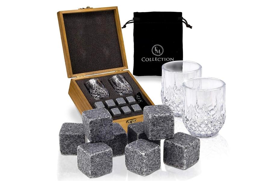 best em collection large granite whiskey rocks