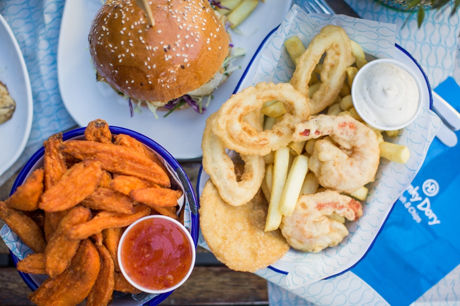 hunky dory fish and chips spread