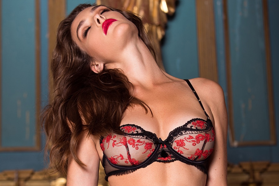 honey birdette women close her eyes