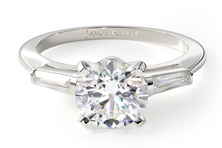 james allen a white color ring