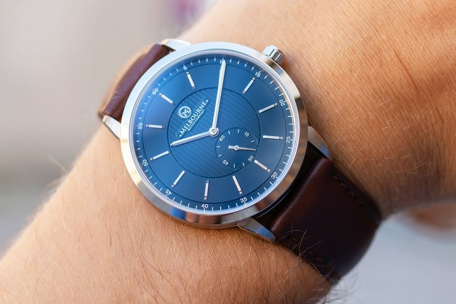 melbourne watch company blue dial