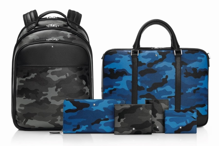 montblanc sartorial leather goods camo pattern